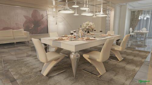 mesa de comedor de diseño nuevo barroco