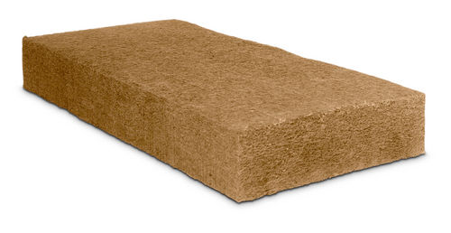aislante termoacústico / de fibra de madera / tipo panel / sin barrera de vapor