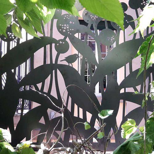 valla de jardín