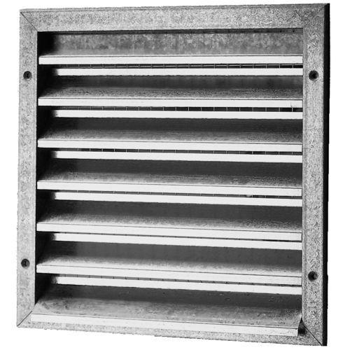 rejilla de ventilación de acero galvanizado / de aluminio / cuadrada / de recubrimiento