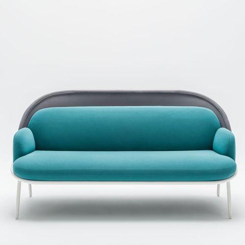 sofá contemporáneo / de tejido / de acero con revestimiento en polvo / para el sector servicios