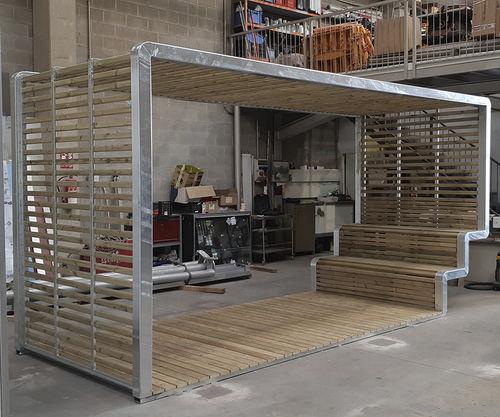 cubierta multifunción para espacio público - URBADIS by Microarquitectura