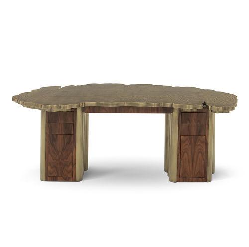 escritorio de chapa de madera