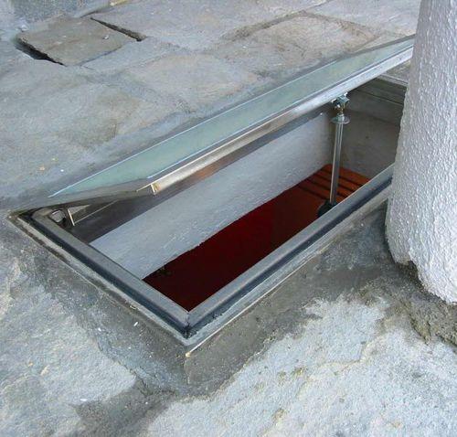 trampilla de inspección para pavimento