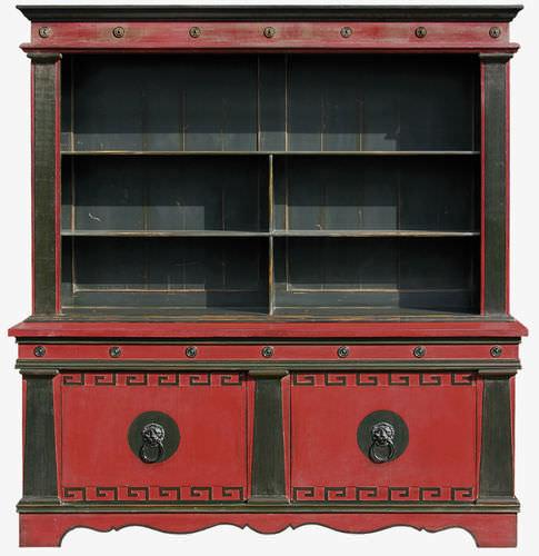 biblioteca de estilo / de madera lacada / de haya