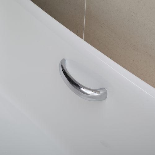 barra de apoyo de metal cromado