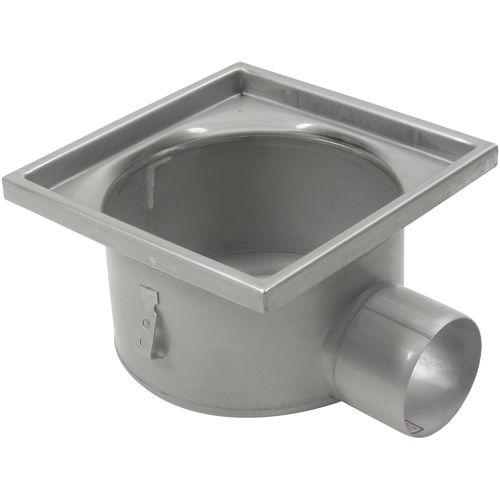 sumidero sifónico de acero inoxidable / para aplicaciones industriales / cuadrado