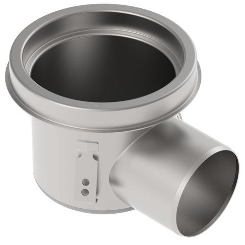 sumidero sifónico de acero inoxidable / para aplicaciones industriales / redondo