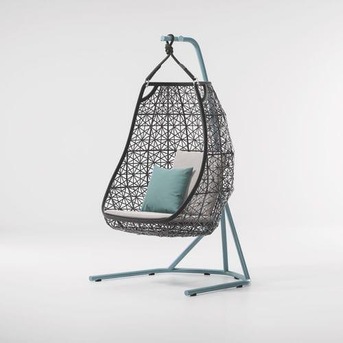silla contemporánea / de tejido / de aluminio / de fibras sintéticas
