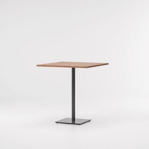 mesa alta contemporánea / de teca / de aluminio / cuadrada