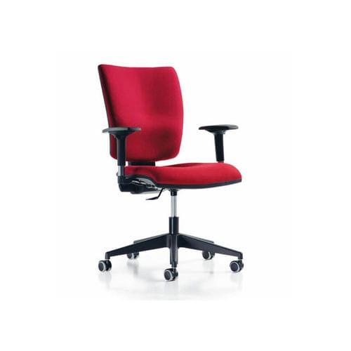 sillón de oficina moderno / de tejido / giratorio / con ruedas