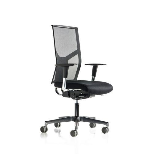 sillón de oficina moderno / en malla / de aluminio / giratorio