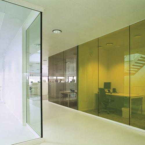 panel de vidrio de seguridad / antiincendios / para tabique / para ventana