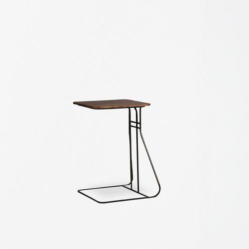 mesita auxiliar contemporánea / de madera / de metal / de mármol