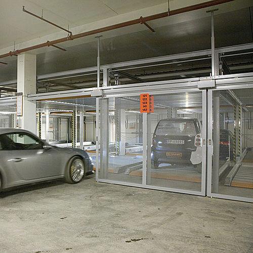sistema de aparcamiento con plataforma