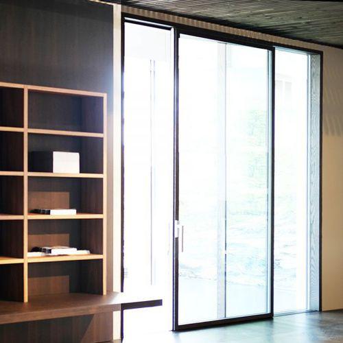 ventanal corredero / de madera / con vidrio doble / de seguridad