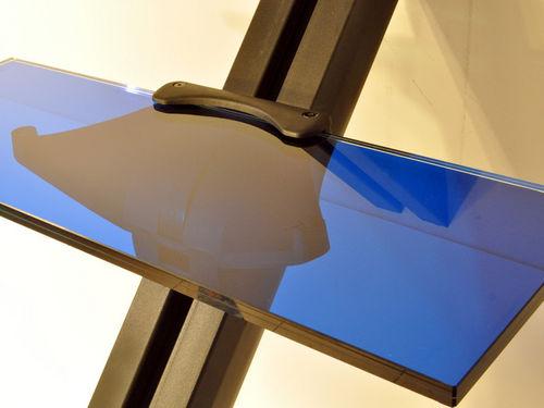escalera recta / estructura de metal / con peldaños de vidrio / sin contrahuellas