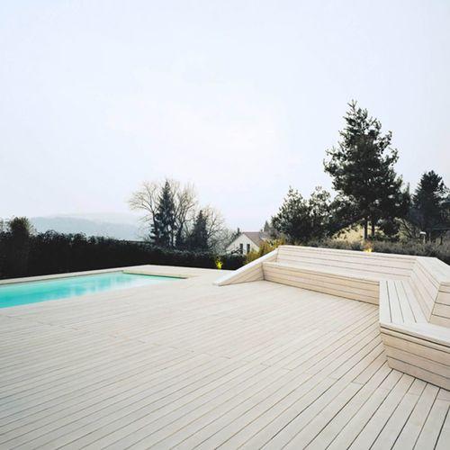 tarima de exterior de madera maciza - Pur Natur Holzprodukte