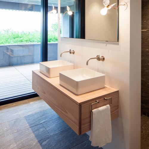 mueble de lavabo doble - Pur Natur Holzprodukte