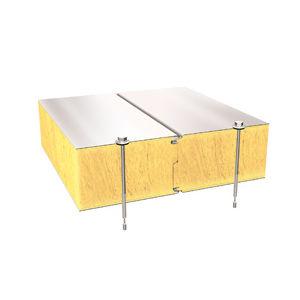 panel sándwich para muro / cara metálica / alma de lana mineral