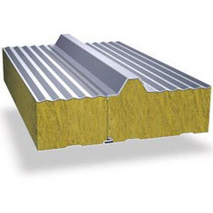 panel sándwich para fachada / para techado / cara metálica / alma de lana mineral