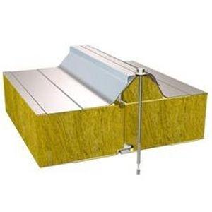 panel sándwich para techado / cara metálica / alma de lana mineral / incombustible