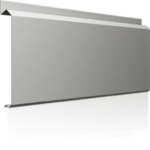 revestimiento de fachada de aluminio / liso / de paneles