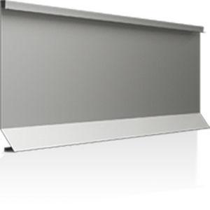 revestimiento de fachada de aluminio / liso / de paneles / con junta alzada
