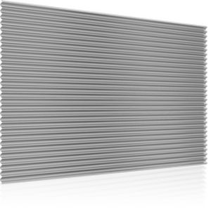 revestimiento de fachada acanalado / en placas / para fachada ventilada