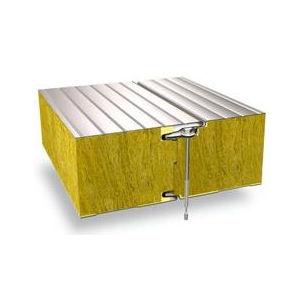 panel sándwich para fachada / para muro / cara metálica / alma de lana mineral