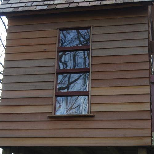 revestimiento de fachada de madera / ranurado / en placas