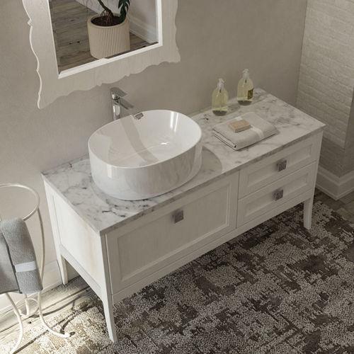 mueble de lavabo de pie / de madera / moderno / con cajones