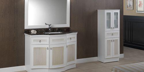mueble de lavabo de pie / de madera / laminado / MDF