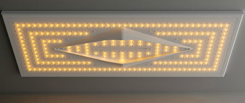 rociador de ducha empotrable de techo / rectangular / con iluminación integrada