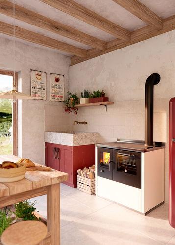cocina con horno de leña / de hierro fundido / para caldera