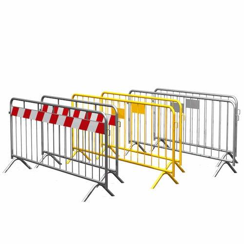 barrera de protección / fija / de acero galvanizado / para obra