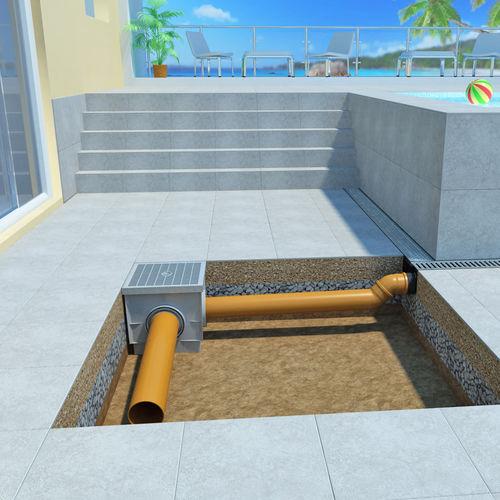 sumidero sifónico de polipropileno / para terraza / para aplicaciones industriales / para ducha