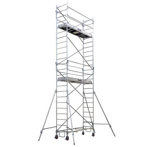 andamio de acero galvanizado / de madera / enrollable