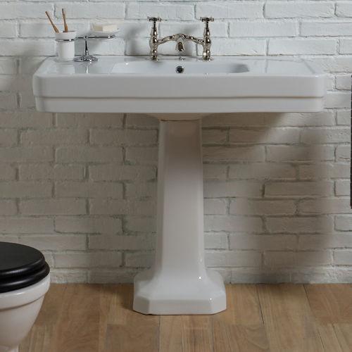 lavabo de pie / rectangular / de cerámica / clásico
