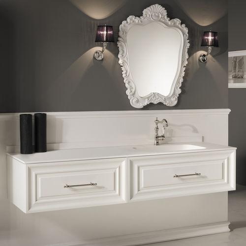 mueble de lavabo suspendido / de MDF / de resina / contemporáneo