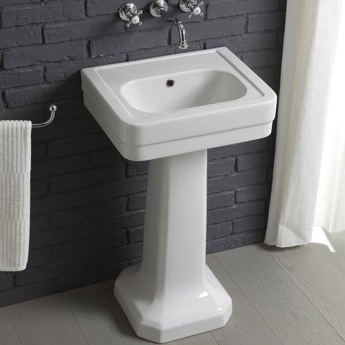 lavabo de pie / rectangular / de cerámica / moderno