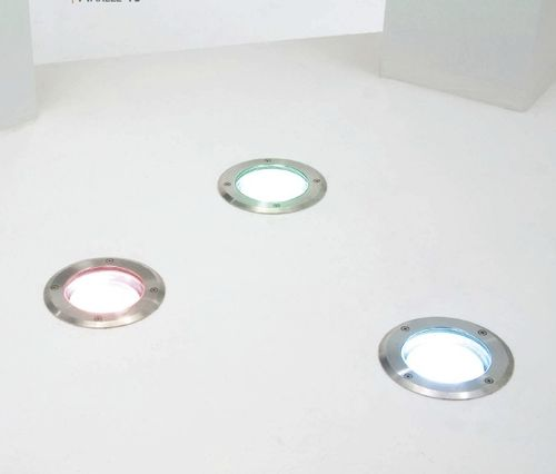 luminaria empotrable de suelo / LED / redonda / de exterior