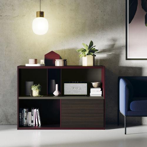 biblioteca modular / moderna / de madera lacada / de roble