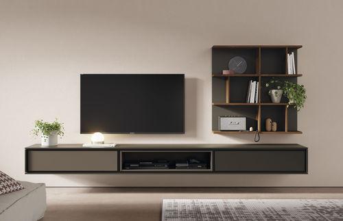 mueble TV contemporáneo / de madera lacada / de roble / modular