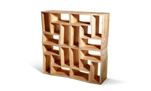 estantería modular / contemporánea / de abedul / de contrachapado