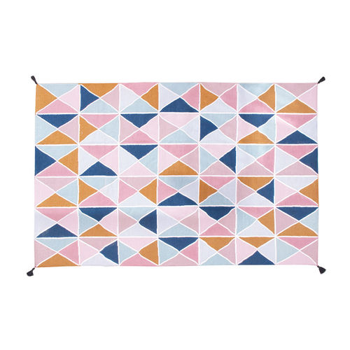 alfombra contemporánea / con motivos / de poliéster / rectangular
