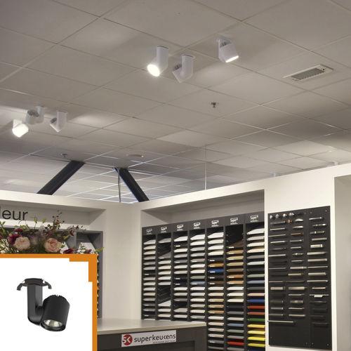 iluminación sobre riel LED / redonda / de aluminio / de PC