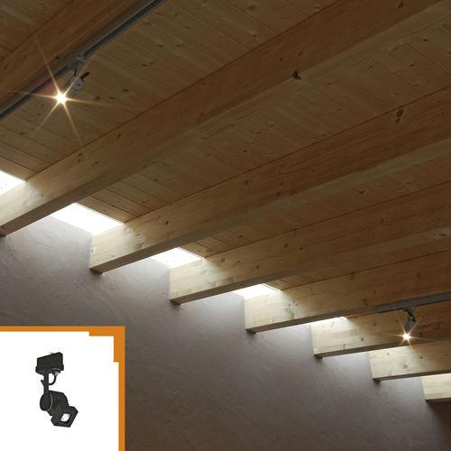 iluminación sobre riel LED / halógena / cuadrada / de aluminio anodizado
