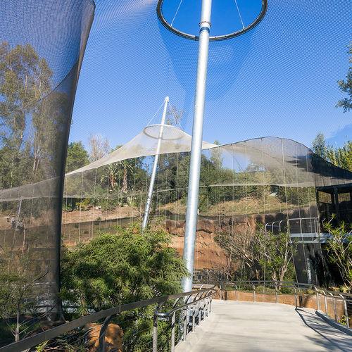 tensoestructura malla de cable de metal / para cubierta / para refugio / para espacio público