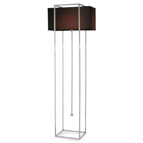 lámpara de pie / contemporánea / de latón / de metal cromado